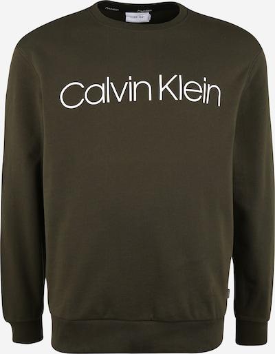 Calvin Klein Sudadera en oliva / blanco: Vista frontal
