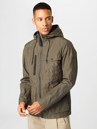 Q/S by s.Oliver Between-Seasons Parka in Green: Frontal view