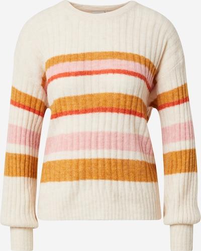 ICHI Sweater in Cream / Mustard / Pink, Item view