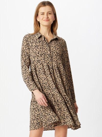 JACQUELINE de YONG Kleid 'Piper' in beige / schwarz, Modelansicht
