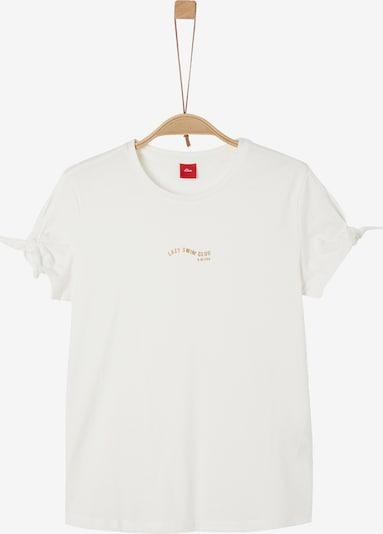 s.Oliver T-Shirt in beige / gold, Produktansicht