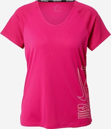 NIKE Λειτουργικό μπλουζάκι 'Miler' σε ροζ