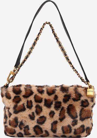 GUESS Τσάντα ώμου 'KATEY' σε μπεζ / καφέ / γκρι / μαύρο, Άποψη προϊόντος