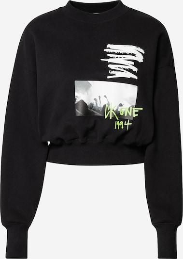 Calvin Klein Jeans Sweatshirt in neongrün / schwarz / weiß, Produktansicht
