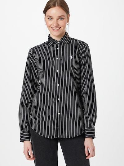 POLO RALPH LAUREN Bluse in schwarz / weiß, Modelansicht