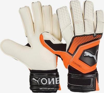 PUMA Torwarthandschuhe in orange / schwarz / weiß, Produktansicht