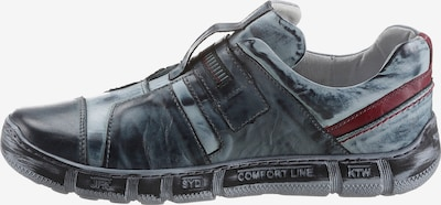 KACPER Schuh in dunkelblau / dunkelrot, Produktansicht