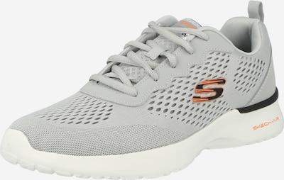 SKECHERS Baskets basses en gris / gris foncé / orange foncé, Vue avec produit