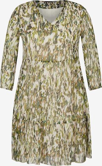 Lecomte Kleid in creme / graphit / oliv / dunkelgrün / orange, Produktansicht