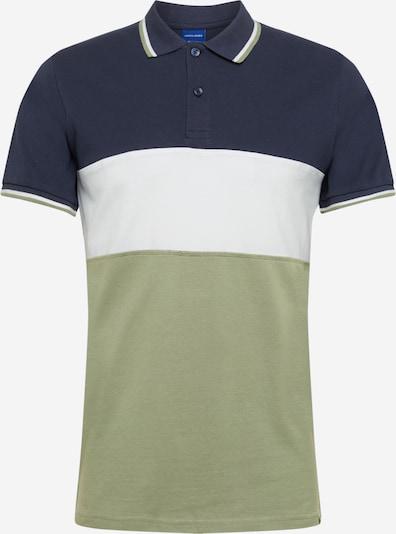 JACK & JONES Camiseta en verde / blanco, Vista del producto