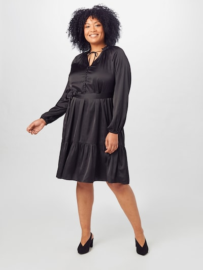 Guido Maria Kretschmer Curvy Collection Robe de cocktail 'Rosalie' en noir, Vue avec modèle
