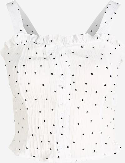 Missguided (Petite) Top | črna / bela barva, Prikaz izdelka