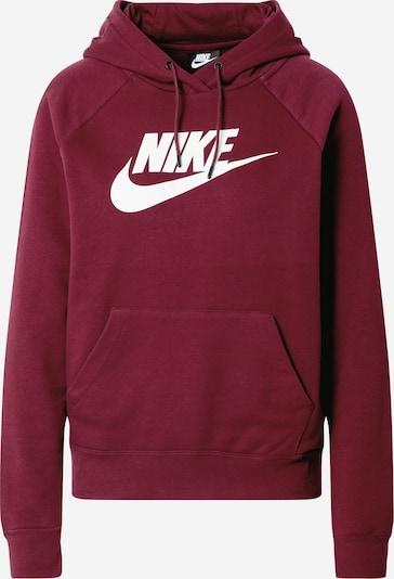 Nike Sportswear Sweatshirt i vinrød / hvid, Produktvisning