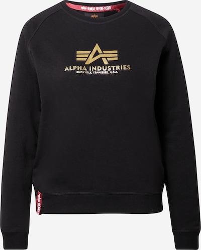 ALPHA INDUSTRIES Sweat-shirt en or / noir, Vue avec produit