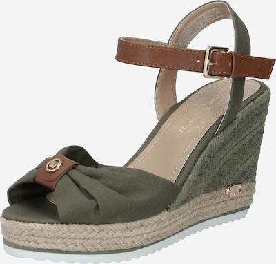 Sandalo con cinturino TOM TAILOR di colore caramello / cachi, Visualizzazione prodotti