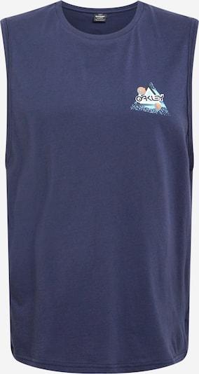 OAKLEY T-Shirt fonctionnel 'SPACE POLYGON' en turquoise / bleu foncé / blanc, Vue avec produit