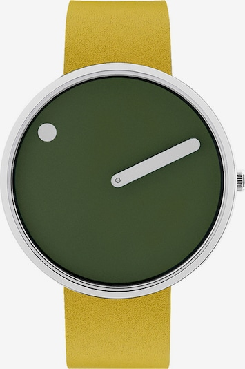 Picto Uhr in hellgrün / dunkelgrün / silber, Produktansicht