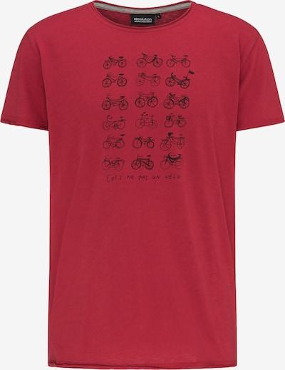 recolution T-Shirt 'VELO' in rot / schwarz, Produktansicht