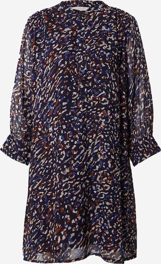 Part Two Kleid 'Georgine' in dunkelblau / braun / weiß, Produktansicht