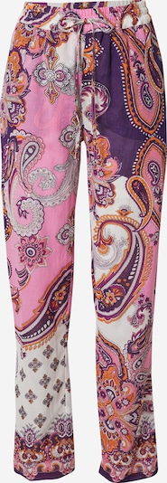 Pantaloni 'JAPON' Derhy pe mov închis / portocaliu închis / roz deschis / alb, Vizualizare produs