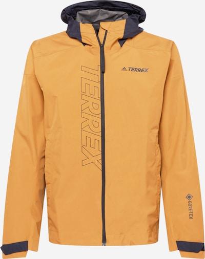 adidas Terrex Jacke in nachtblau / cognac / grau, Produktansicht