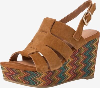 MARCO TOZZI Sandale in cognac / mischfarben, Produktansicht