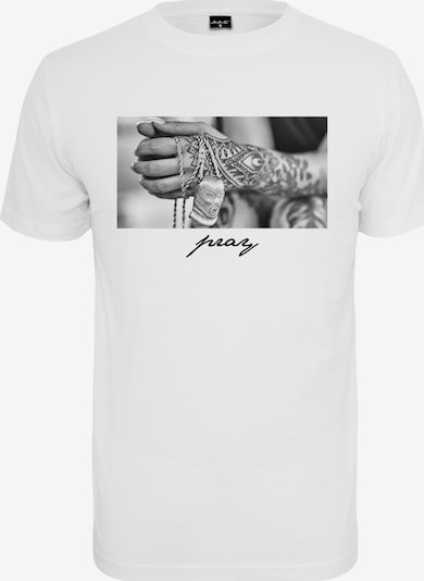 Mister Tee Shirt 'Pray 2.0 Tee' in de kleur Wit: Vooraanzicht