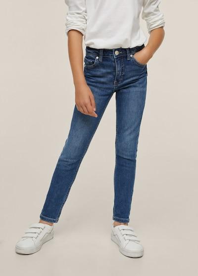 MANGO KIDS Jeans in de kleur Donkerblauw: Vooraanzicht