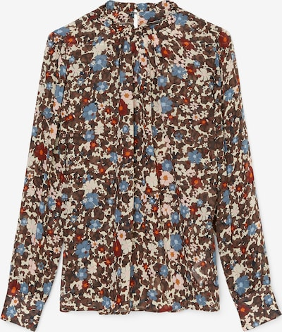 Marc O'Polo Bluse in blau / braun / rot, Produktansicht