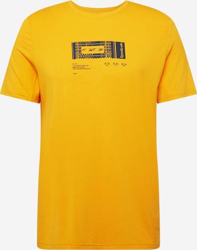 Reebok Sport Funktionsshirt in goldgelb / schwarz, Produktansicht