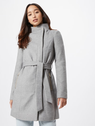 VERO MODA Between-seasons coat in light grey, View model