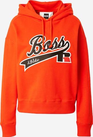 BOSS Sweatshirt 'C_Eraisy_Russell Athletics' i oransje