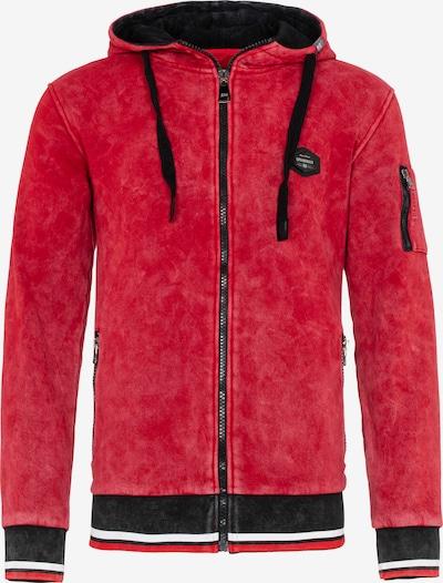 CIPO & BAXX Sweatvest in de kleur Rood / Zwart, Productweergave