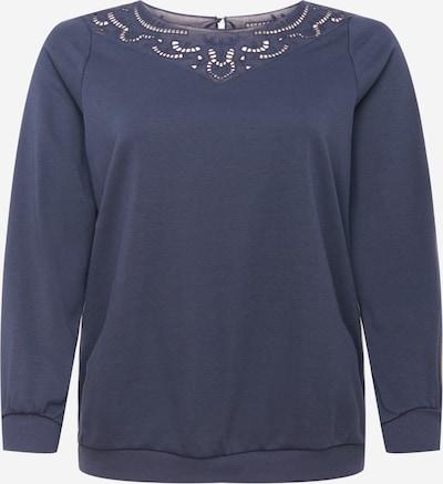 Zizzi Sweat-shirt en bleu marine, Vue avec produit