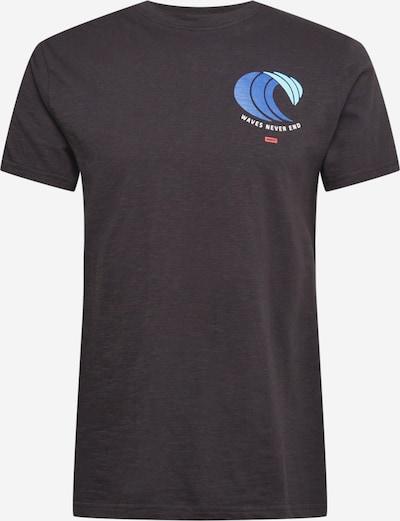 Tricou 'WAVE' Wemoto pe albastru / verde deschis / negru, Vizualizare produs