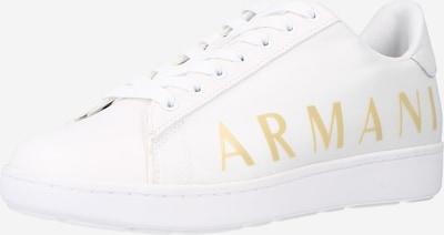 ARMANI EXCHANGE Baskets basses en jaune / blanc, Vue avec produit