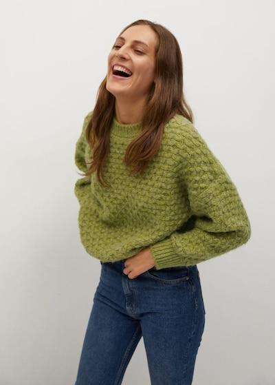 MANGO Pullover 'Norman' in hellgrün, Modelansicht