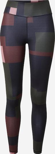 Casall Sportbroek in de kleur Navy / Donkergroen / Rosa / Donkerrood, Productweergave