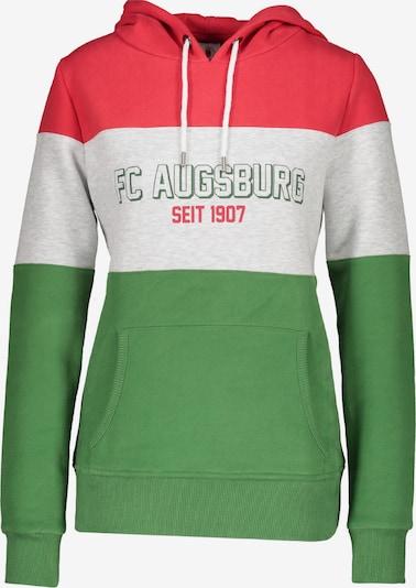 FC Augsburg Sweatshirt in grau / grün / rot / weiß, Produktansicht