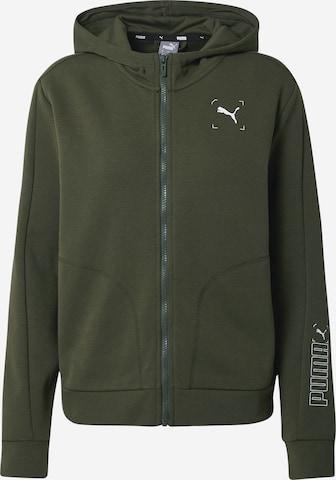 PUMA Sportlik trikoojakk, värv roheline