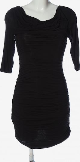 H&M Langarmkleid in M in schwarz: Frontalansicht