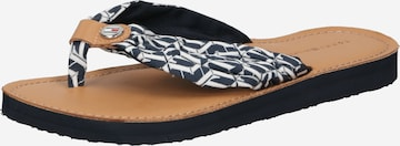 TOMMY HILFIGER T-Bar Sandals in Blue