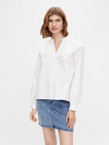 PIECES Bluse 'Evangla' i hvit