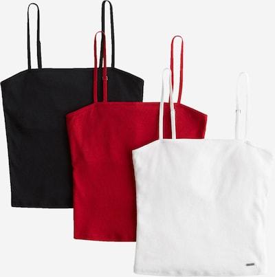 HOLLISTER Топ в червено / черно / бяло, Преглед на продукта