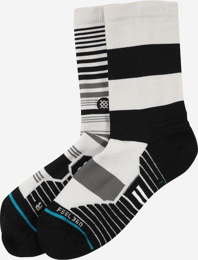 Stance Sportsokken 'DYNAMIC' in de kleur Turquoise / Grijs / Zwart / Wit, Productweergave