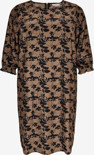 ONLY Carmakoma Kleid in braun / schwarz, Produktansicht