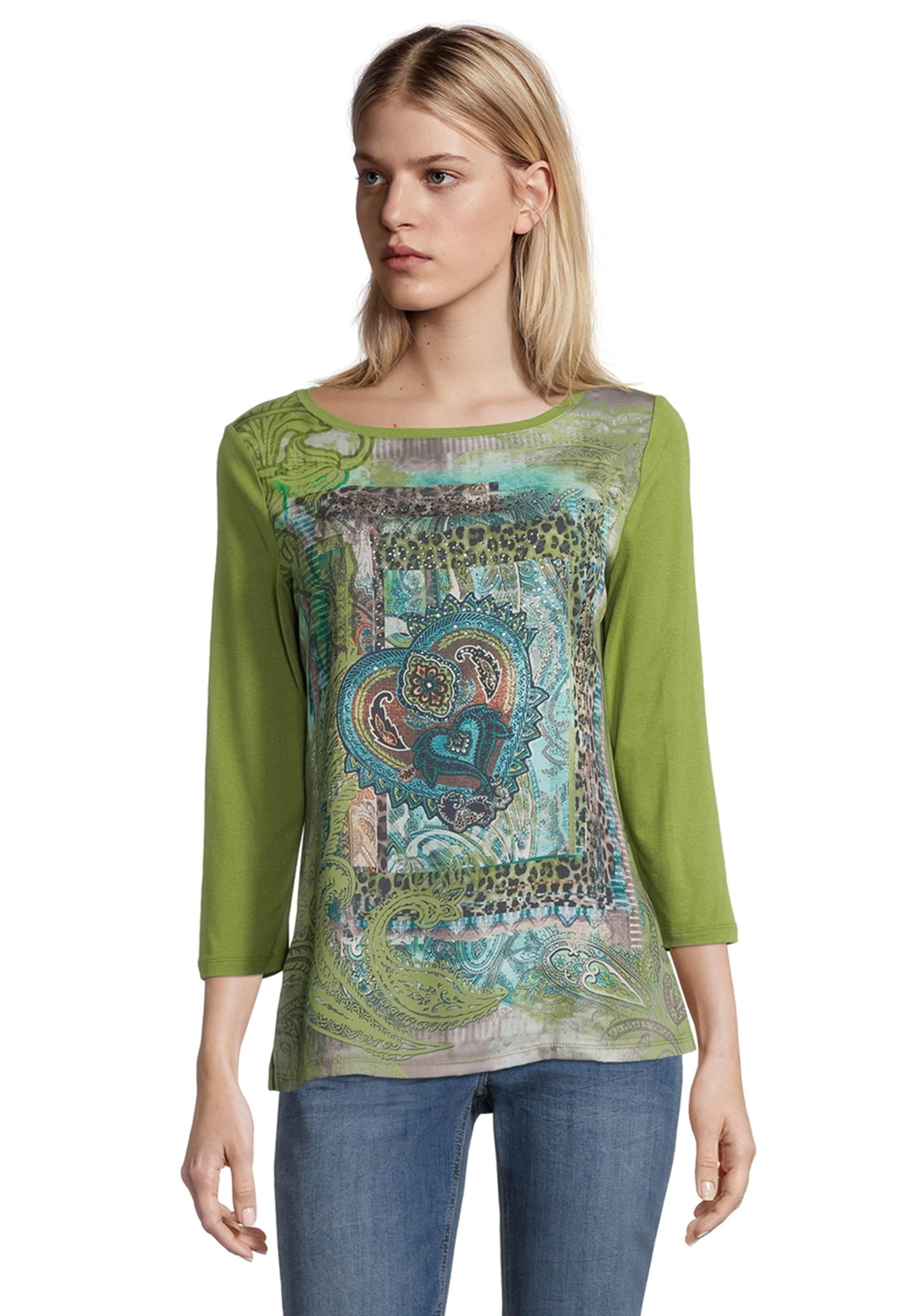 Betty Barclay Blusenshirt mit Aufdruck in braun / grün