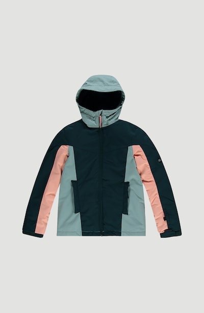 O'NEILL Skijacke 'Blaze' in türkis / dunkelblau / puder, Produktansicht