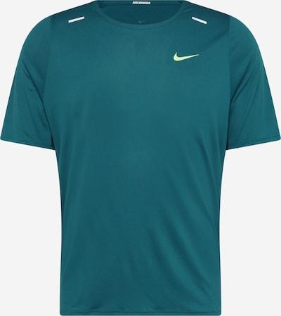 NIKE Sportshirt 'Rise 365 Wild Run' in pastellblau / neongelb / weiß, Produktansicht