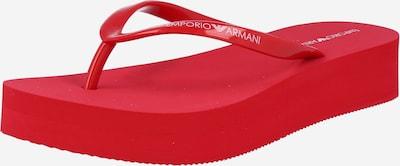 Emporio Armani Séparateur d'orteils en rouge / blanc, Vue avec produit